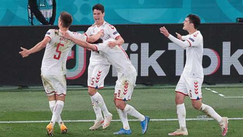 'Do it for Christian': Fairytale for Denmark as rout of Russia puts them in last 16