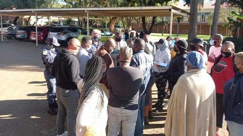 WATCH: Angry parents at Laerskool Theresapark carry principal out of school