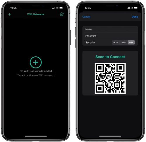 How to create a QR code on the iPhone to share Wi-Fi network without revealing password