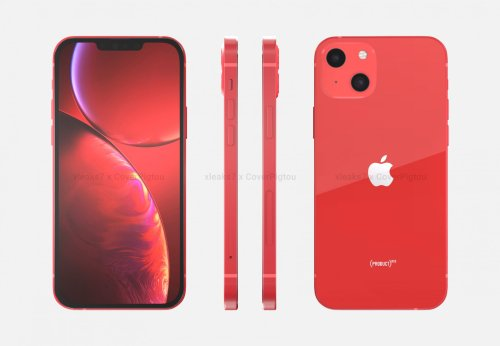 Alleged 'iPhone 13' Renders in Product Red Colour Imagined [PICS]