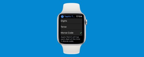 How to Make Your Apple Watch Speak Time or Tap It in Morse Code