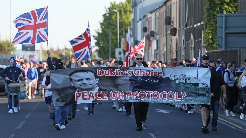 Protesters urge DUP not to nominate new First Minister until Protocol abandoned