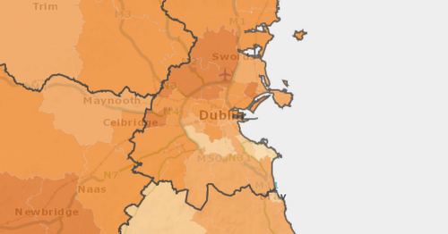 Dublin has the worst Covid hotspot in Ireland right as Tullamore makes progress