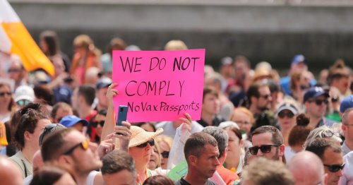Thousands march through Dublin in protest against the use of vaccine passports