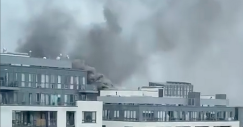 Emergency services on the scene of a 'serious' fire at south Dublin hotel