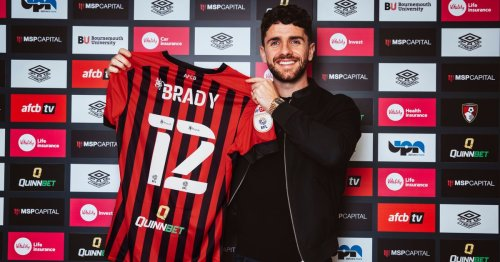 Robbie Brady signs one-year deal with Championship side Bournemouth