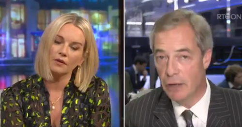 Claire Byrne praised by RTE viewers after five-word takedown of Nigel Farage