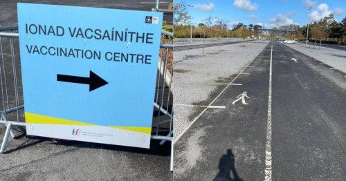 Eerie pictures show Dublin vaccination centre deserted after AstraZeneca blow