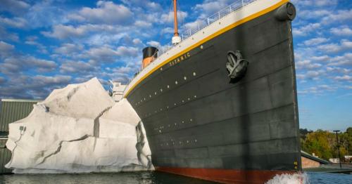 Collapsing iceberg at Belfast's Titanic attraction injures three visitors