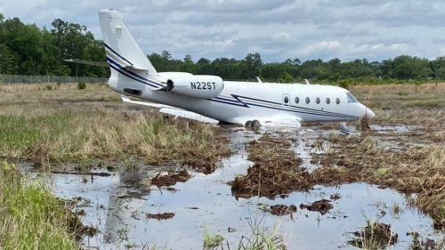 A jet ended up in pluff mud near the Ridgeland airport. Here's what happened