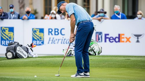 How Jim Furyk's loopy swing gets him on the fairways as others hit long at RBC Heritage