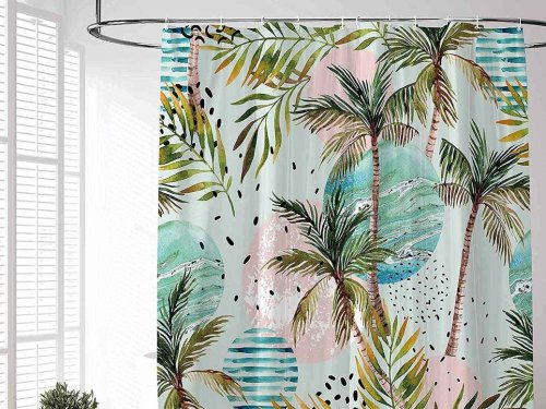 Best Tropical Shower Curtains