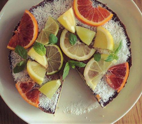 Flourless Chocolate Citrus Fruit Cake