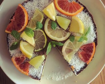 Flourless Chocolate Citrus Fruit Cake