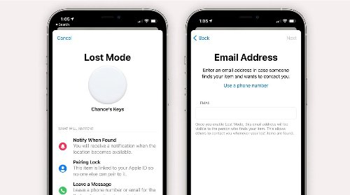 iOS 14.6 beta code reveals that users will be able to enter their email for AirTag's Lost Mode