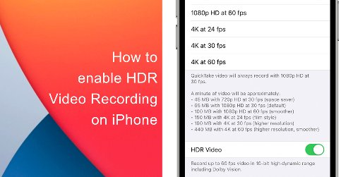 How to enable HDR Video Recording on iPhone