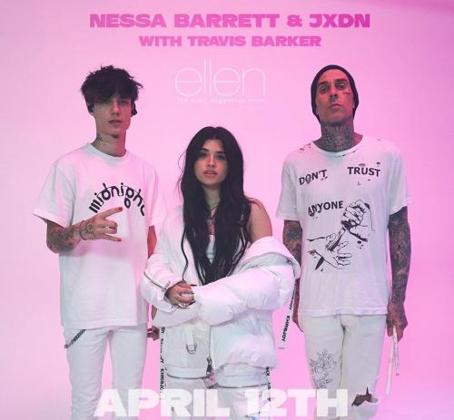 TikTok Stars Nessa Barrett and Jaden Hossler Perform Their Latest Single on the Ellen Degeneres Show