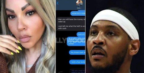Shocking Carmelo Anthony Texts Leak After La La Divorce (Photos)