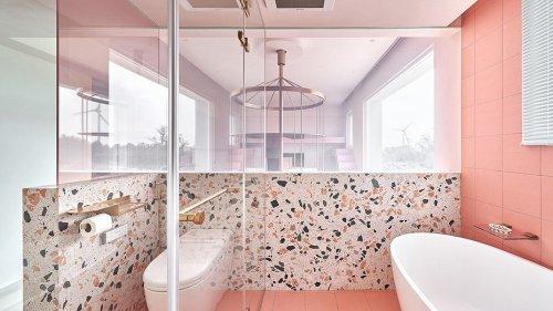 Как использовать плитку терраццо в интерьере ванной, кухни и прихожей (44 фото)
