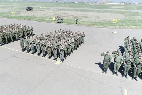 Russian peacekeepers prepare for Victory Day parade in Karabakh, official Baku is silent