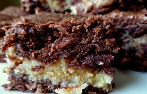 Moist Coconut Macaroon Cake Squares