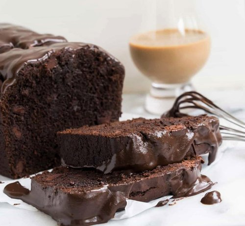 Chocolate Irish Cream Loaf Cake