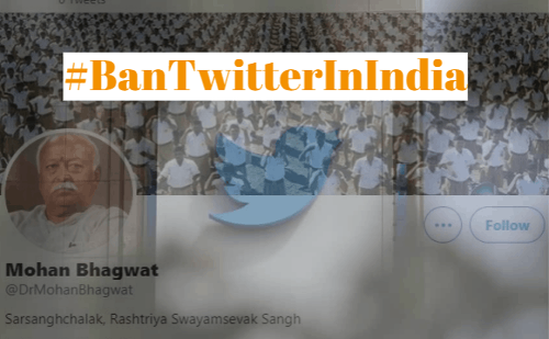 Right-wing supporters trend #BanTwitterInIndia after Twitter removes blue tick from accounts held by RSS chief Mohan Bhagwat, Venkaiah Naidu