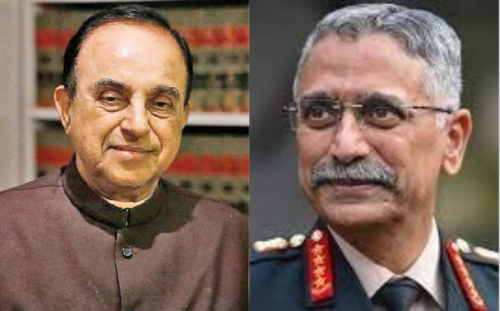 """""""Sissy talk which will demoralise"""": Subramanian Swamy criticise Indian army chief General MM Naravane for weak statement on China"""