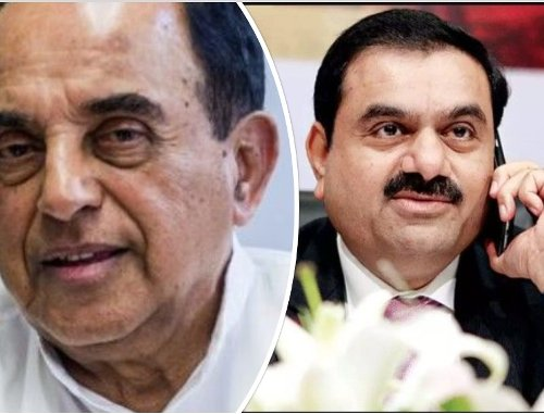 """""""Trapeze Artist Adani"""": Subramanian Swamy wants prosecution by ED as Adani Group shares fall by up to 25%"""