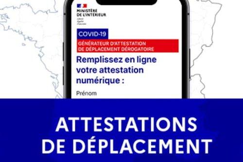 Attestation de déplacement : le document à télécharger