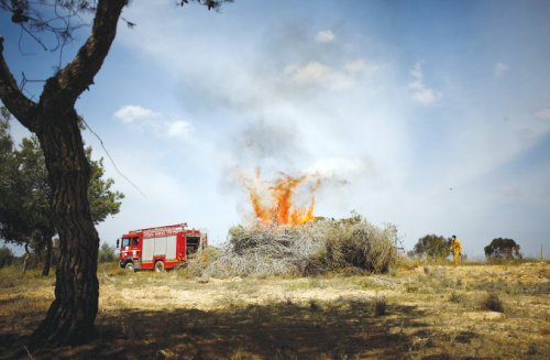 Fires ignited by incendiary balloons rage in southern Israel