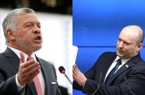 Jordan's King Abdullah II confirms he met with Gantz, Bennett