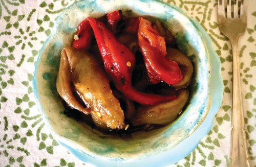 Pascale's Kitchen: Roasted peppers on sourdough bread