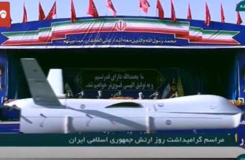 Iran shows off dozens of drones in military parade