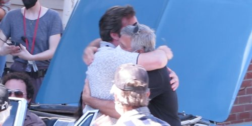 George Clooney & Ben Affleck Hug it Out on the Last Day of Filming 'The Tender Bar'