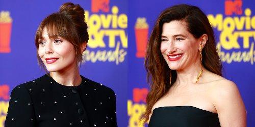 Elizabeth Olsen & Kathryn Hahn Rep 'WandaVision' at MTV Movie & TV Awards 2021