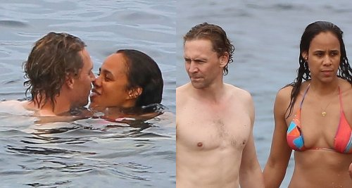 Tom Hiddleston & Former Co-Star Zawe Ashton Share a Kiss in the Ocean on Vacation in Ibiza!