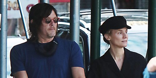 Diane Kruger & Norman Reedus Couple Up For Walk in NYC