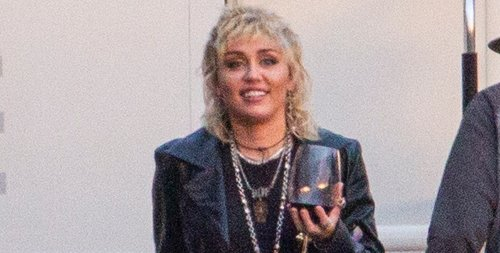 Miley Cyrus Wraps a Photo Shoot with a Glass of Wine