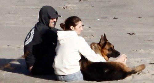 Shailene Woodley & Aaron Rodgers Cuddle Their Dog at the Beach in Cute New Photos!