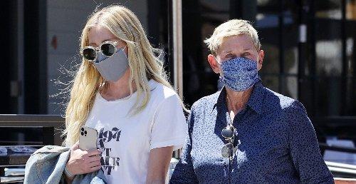 Ellen DeGeneres & Portia de Rossi Hold Hands During Trip to Farmer's Market