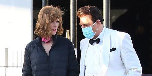 Nicole Kidman & Javier Bardem Look Just Like Lucille Ball & Desi Arnaz In These New 'Being The Ricardos' Set Pics!