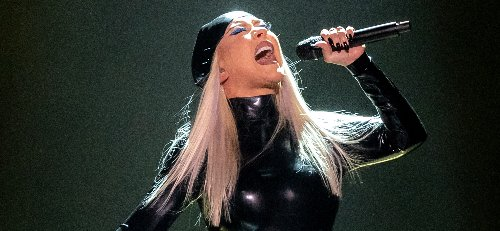 Christina Aguilera Rocks Latex Outfit for Performance at Grand Opening of Virgin Hotels Las Vegas!