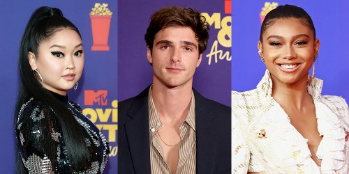 Lana Condor Hits Red Carpet In Hot Black Dress For MTV Movie & TV Awards 2021