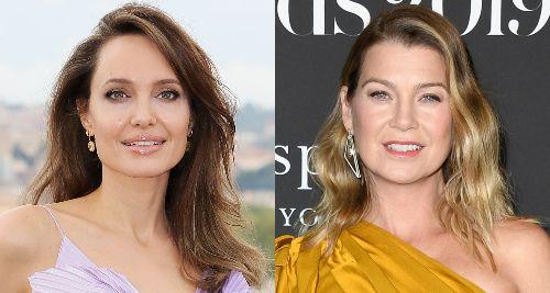 Angelina Jolie & Ellen Pompeo Meet Up for Dinner in Beverly Hills!