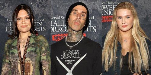 Travis Barker Hits Universal Studios Halloween Horror Nights Event with Jessie J, Abigail Breslin & More!