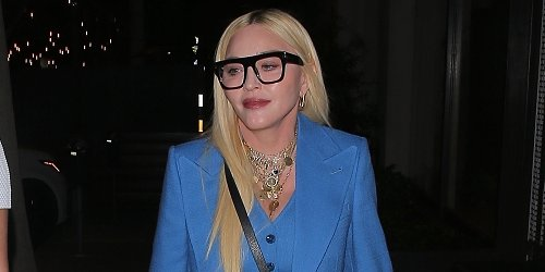 Madonna Looks 'True Blue' Beautiful While Out to Dinner in West Hollywood