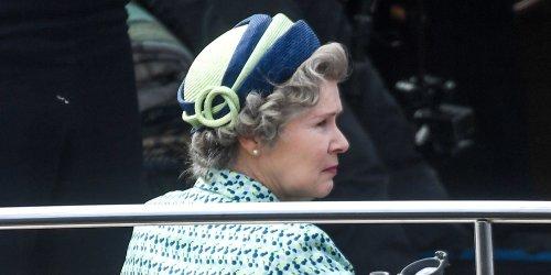Imelda Staunton Takes A Boat Ride As Queen Elizabeth To Film 'The Crown' in Scotland