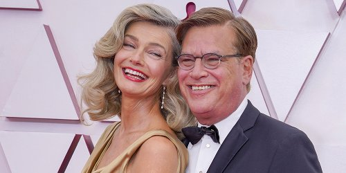 Aaron Sorkin & Model Paulina Porizkova Made Their Red Carpet Debut at the Oscars!