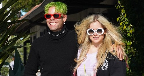 Avril Lavigne & Mod Sun Are All Smiles While Out on Coffee Run